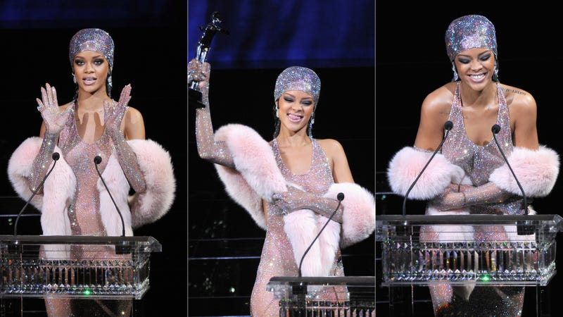 I Can't Stop Looking at Rihanna's See-Through Crystal Dream Gown