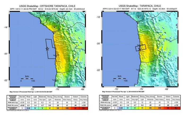 Aftershocks in Chile are Larger Than a Century of American Earthquakes