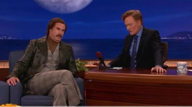 Ron Burgundy Tells Conan That The Dodge Durango Is A Terrible Car