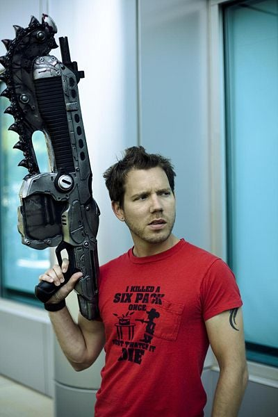 Gears of War Designer Won't Carry Plastic Weapon On Talk Show