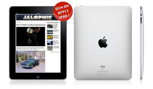 Sign up for the Jalopnik Newsletter, Win an iPad