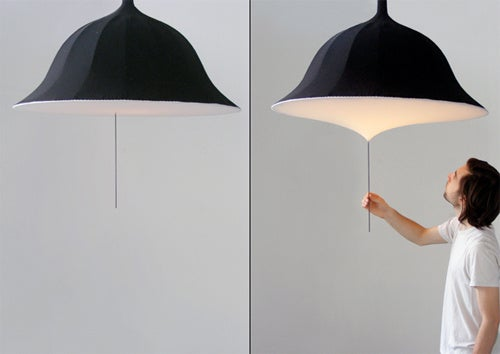 Etirement Lamp Concept Looks Like An Umbrella But I Wouldn't Suggest Using It In A Downpour