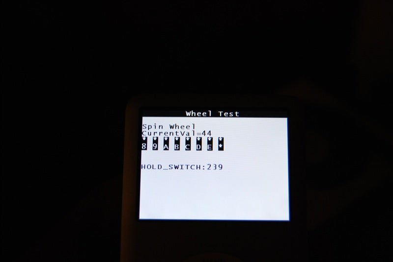 iPod classic Diagnostic Start Up Reveals Very Little