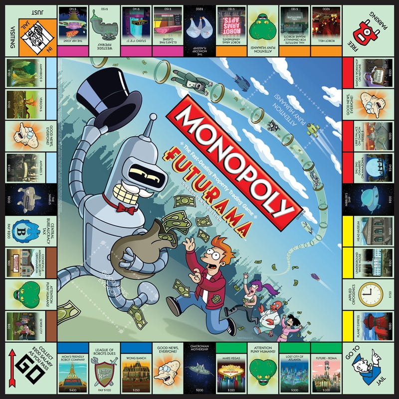 Futurama Monopoly lets you own Robot Hell