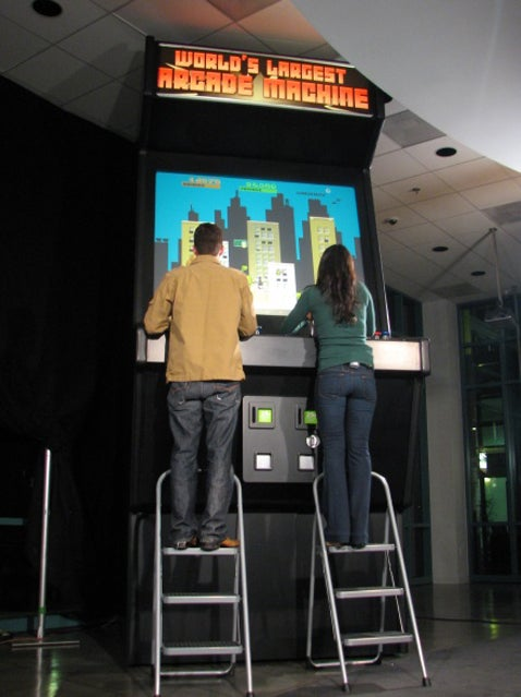 "AOTS Builds ""World's Largest Arcade Console"""