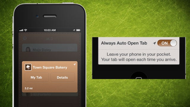 Square Card Case for iOS5 Automatically Opens Your Tab at Merchants So You Can Pay with Your Name