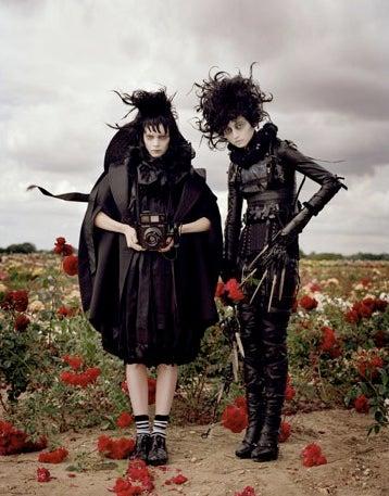 Tim Burton Plays Dress Up in Harper's Fashion Spread