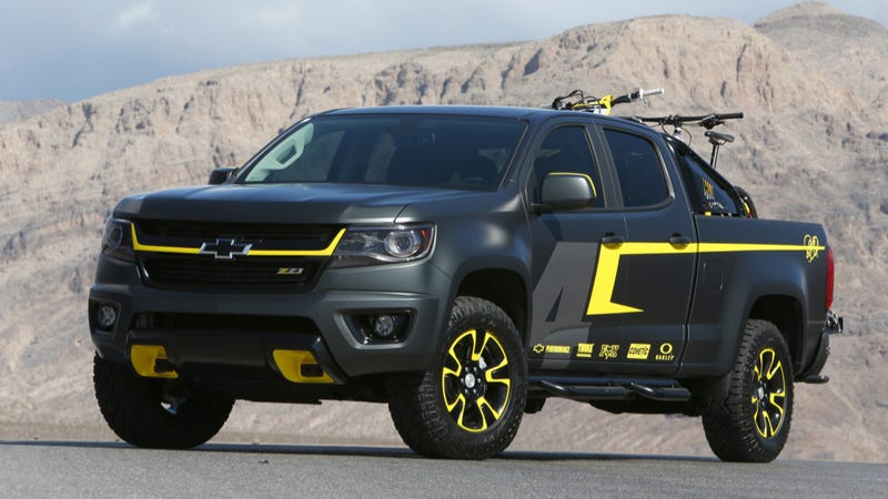 Gm Knows The 2015 Chevy Colorado Looks Cooler Without That