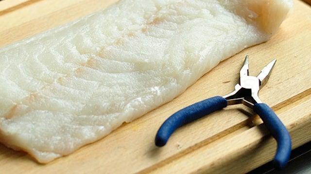 Remove Tiny Fish Bones with Needle Nose Pliers