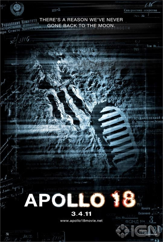 "First Apollo 18 Poster: ""There's a reason we've never gone back to the moon"""