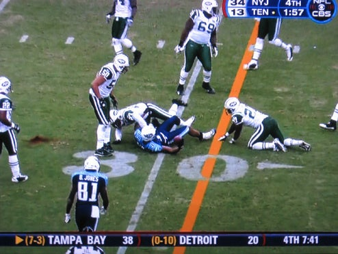 So What Was That Ugly Red Stain on the Field During the Jets-Titans Game?