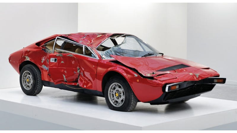 Crashed And Totaled Ferrari Dino Fetches $250,000 Because It's Now Art