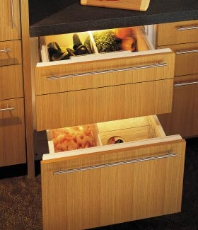 Sub-Zero Wolf Refrigerated Drawers Ideal for the Bedroom