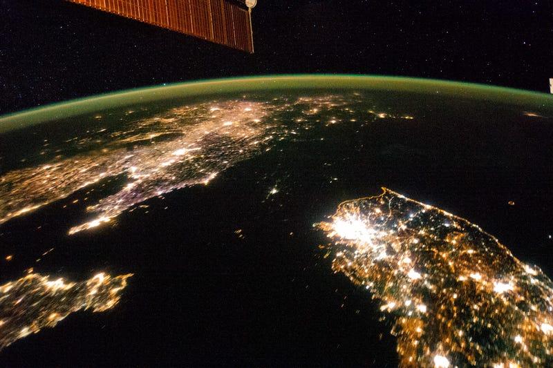 Éjszaka teljesen eltűnik Észak-Korea