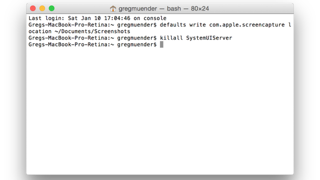 Change Where Screenshots Are Saved on Your Mac with a Terminal Command