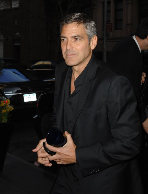 George Clooney Faced With Blast From The Past