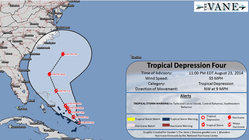 Tropical Depression Forms in Atlantic, May Threaten Southeastern Coast