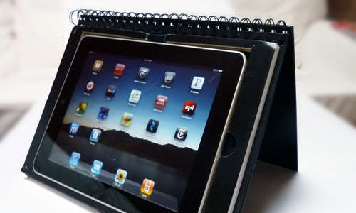 Combination DIY Stand and Notebook Case Disguises Your iPad