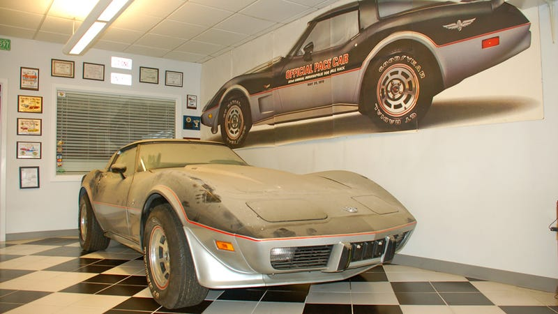 This is what a barn-fresh 1978 Corvette Pace Car with 13 miles looks like