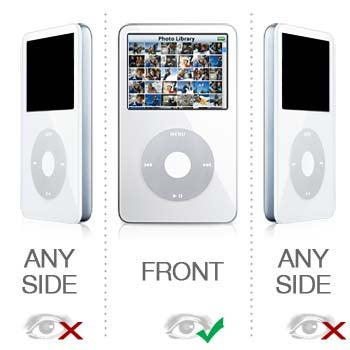 iPod Privacy Protector: No One Will Know What You Are Watching Save For The Bulge In Your Pants