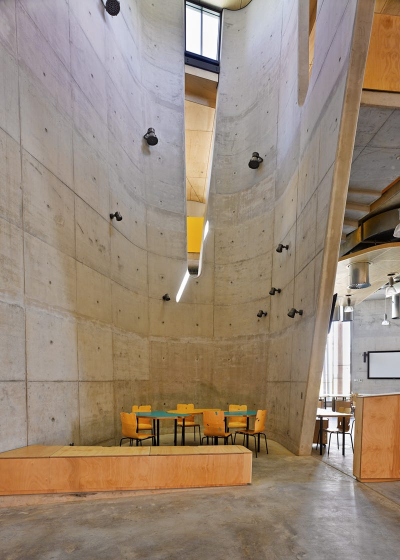 This New School of Architecture is a Crazy Canyon of Concrete and Wood