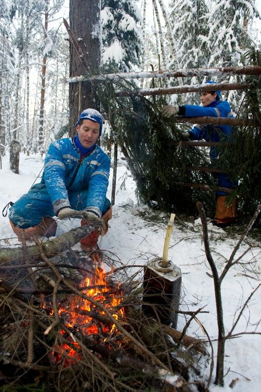 In Kazakhstan, cosmonauts must go through winter wilderness training to survive reentry