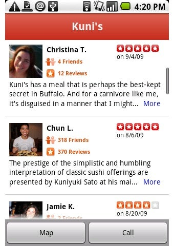 Yelp Hops onto Android for Location-Aware Reviews