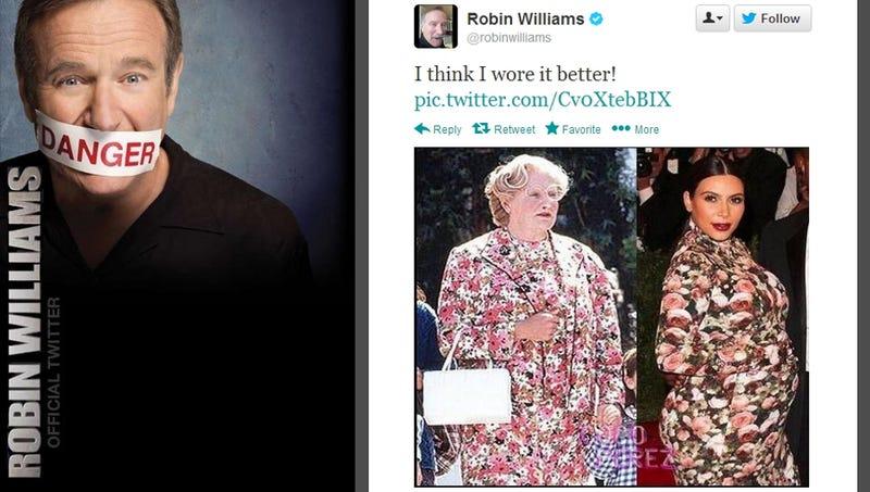 Robin Williams Shades Kim Kardashian, Compares Her to Mrs. Doubtfire