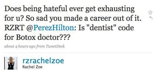Perez Hilton Picks Fights With Rachel Zoe, Lily Allen