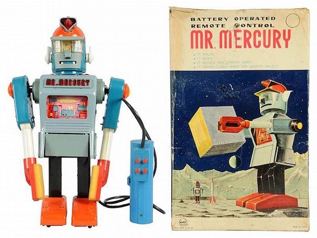 7 Humanoid Toy Robots from the Original Space Age