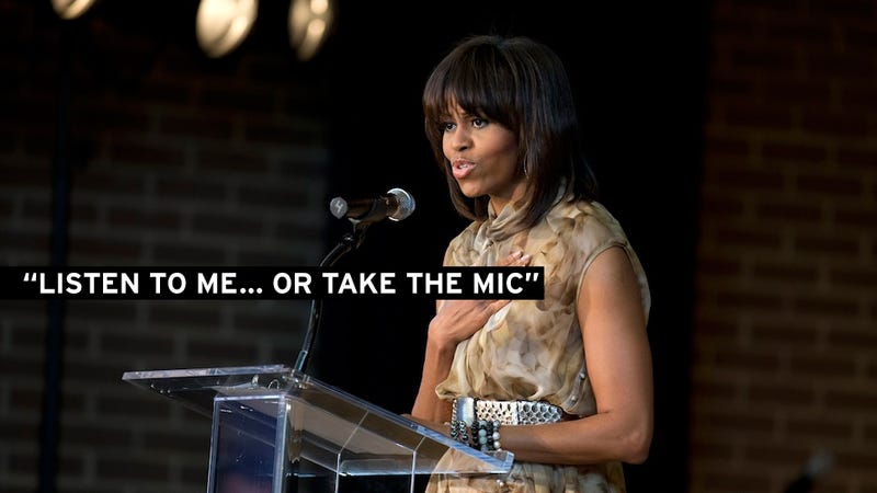 Michelle Obama Has No Patience for Hecklers