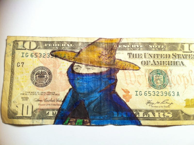 Turning Dollar Bills Into Works of Video Game Art