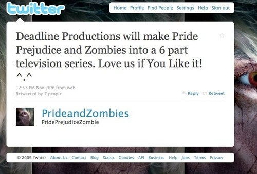 Pride And Prejudice And Zombies Will Be A Miniseries