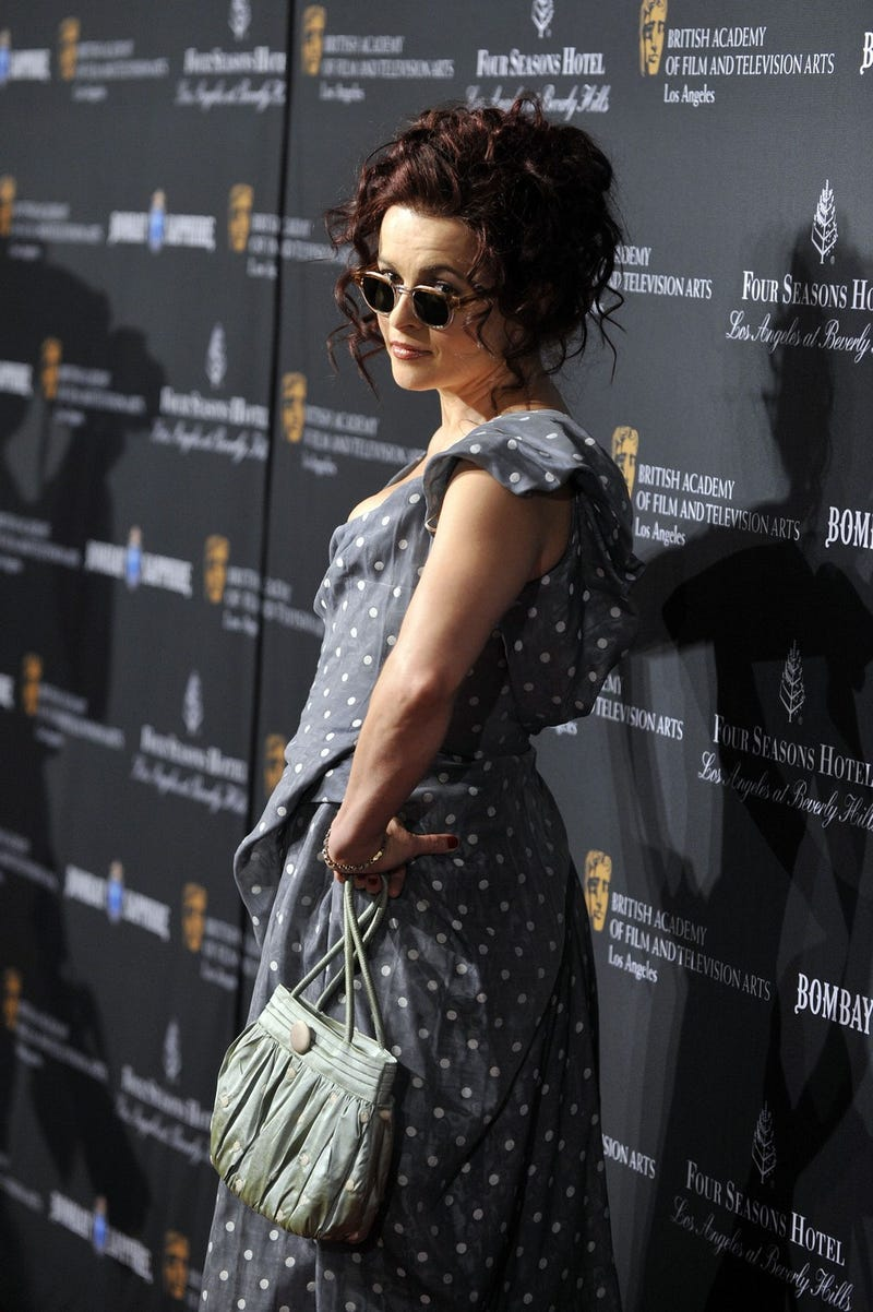 Helena Bonham Carter Wears Her Sunglasses At Night