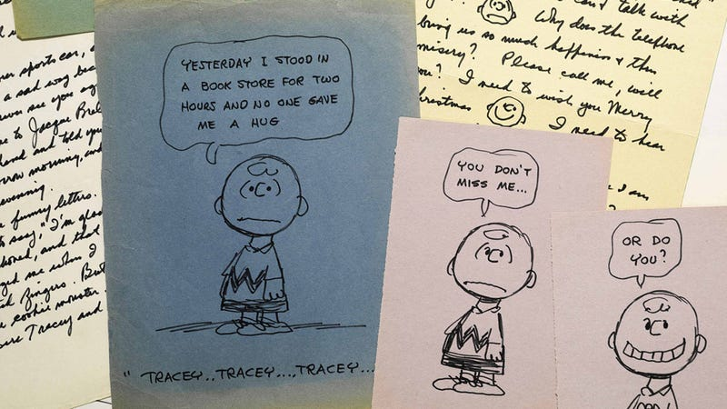While Married and 48, Charles Schulz Mailed Tons of Letters, Snoopy Drawings to a 25-Year-Old He Had a Crush On