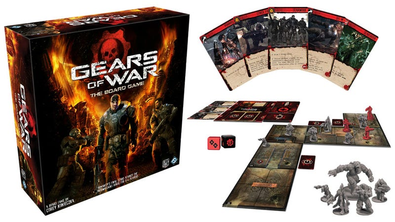Chainsaw Dudes In Half at Your Next Family Game Night with Gears of War: The Board Game