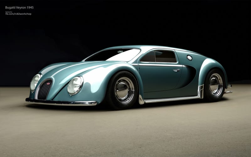 Seems plausible... Bugatti Veyron 1945