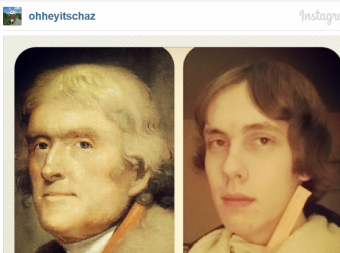 High School Student Takes Selfies of Himself as Every President