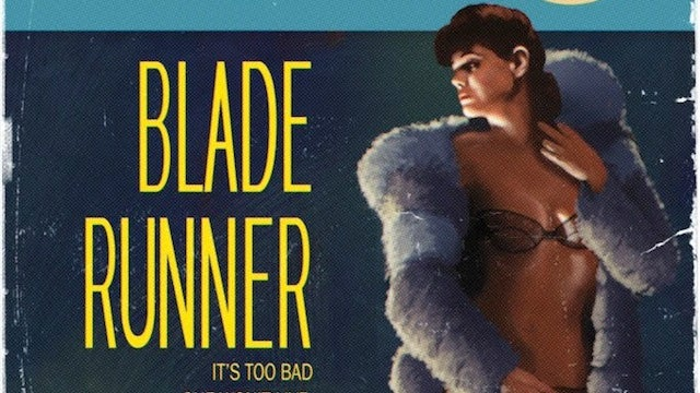 Blade Runner reimagined as a pulp novel cover