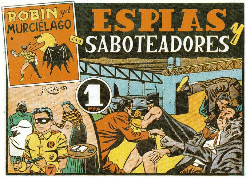 Batfamily en Español: naked Batman, gun-toting Robin, and the luchadora Batwoman