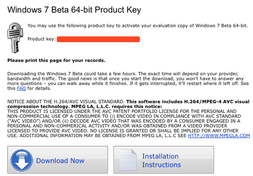 Windows 7 Beta Product Keys Now Available (For Real!)