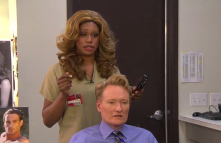 Laverne Cox Throws Some Major Shade at Conan O'Brien on His Show