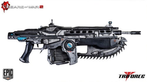 Life-Size Gears of War Lancer Is Sure to Get Some Kid Expelled