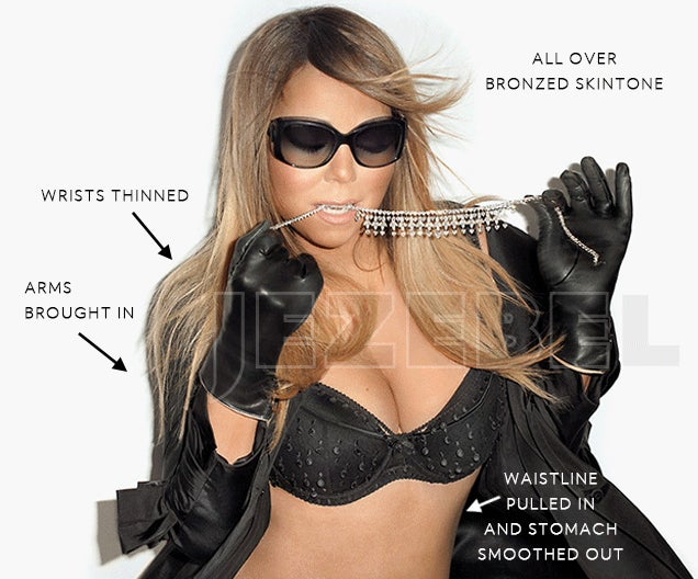 Retouch My Body: Terry Richardson Pix of Mariah Carey Before Photoshop
