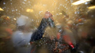 Photos: The Giants Booze It Up