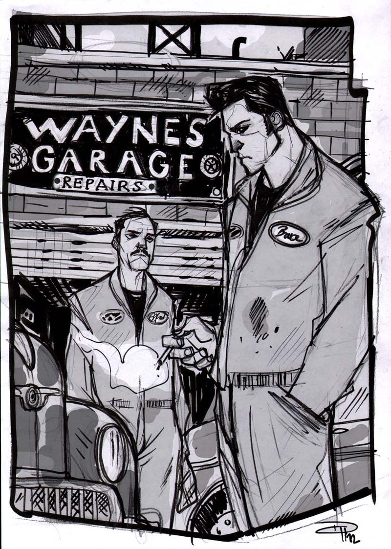 New scenes from Rockabilly Batman make us scream, WHY ISN'T THIS A BOOK YET?
