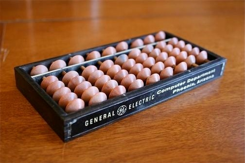 Vintage Desk Coughs Up Vintage General Electric Abacus