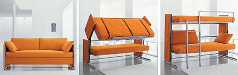 Transformer Sofa Magically Morphs into Bunk Bed