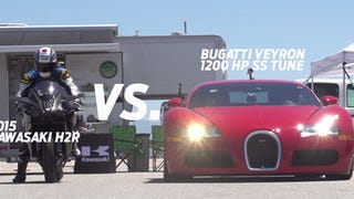Of Course You Want To Watch The 300-HP Kawasaki H2R Race A Veyron