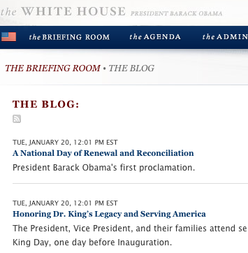 The White House Gets a Blog